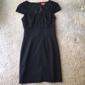 Shift dress with ruffle detail